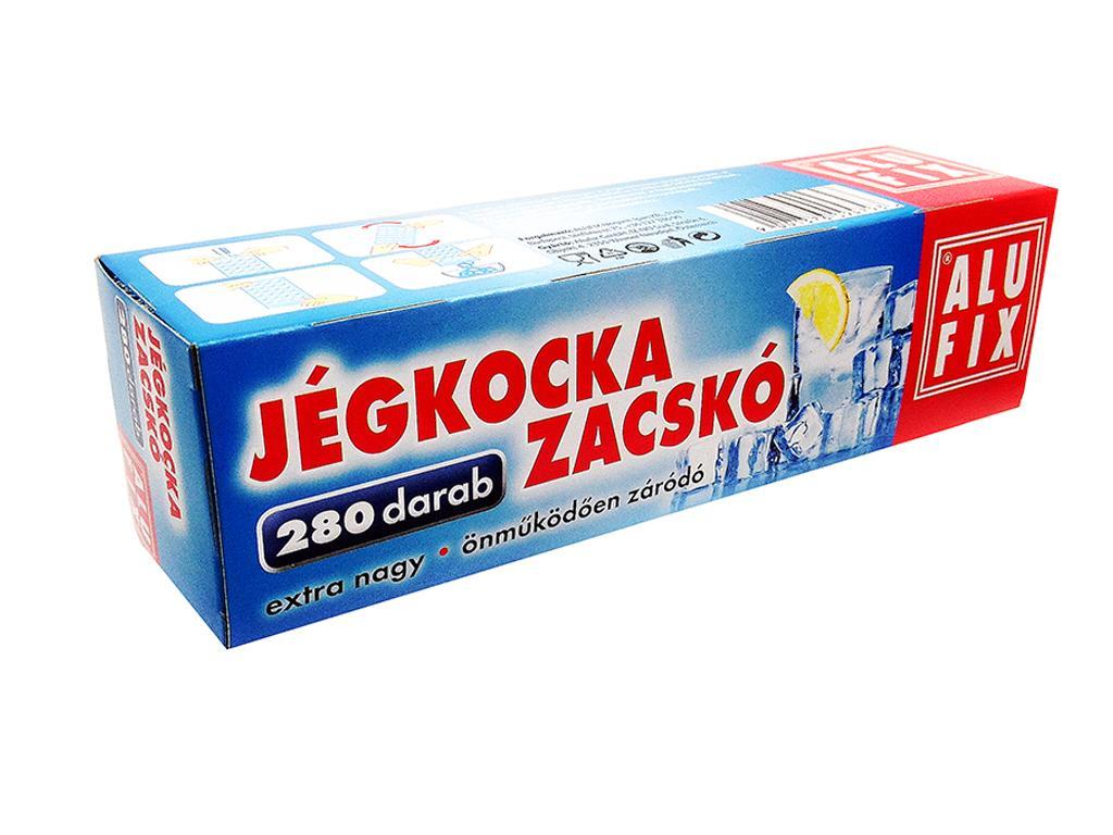 ALUFIX JÉGKOCKAKÉSZÍTŐ ZACSKÓ 10DB (280DB EXTRA MÉRETŰ PARTY JÉGKOCKÁHOZ.)