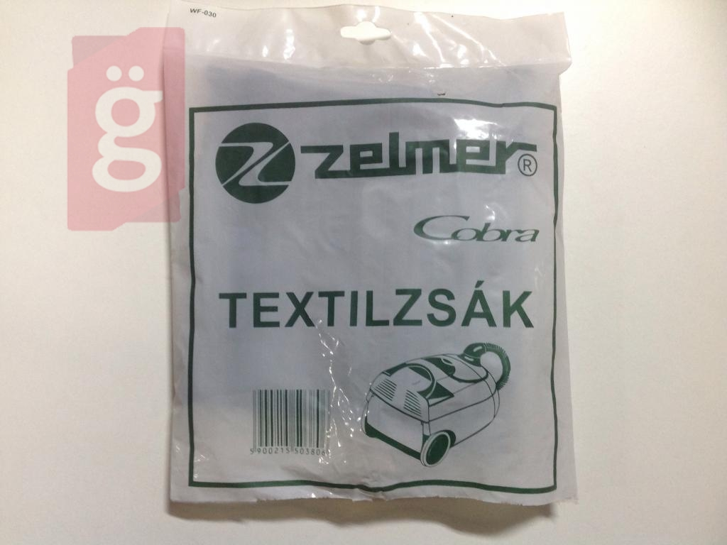Zelmer Cobra gyári vászon (textil) porzsák