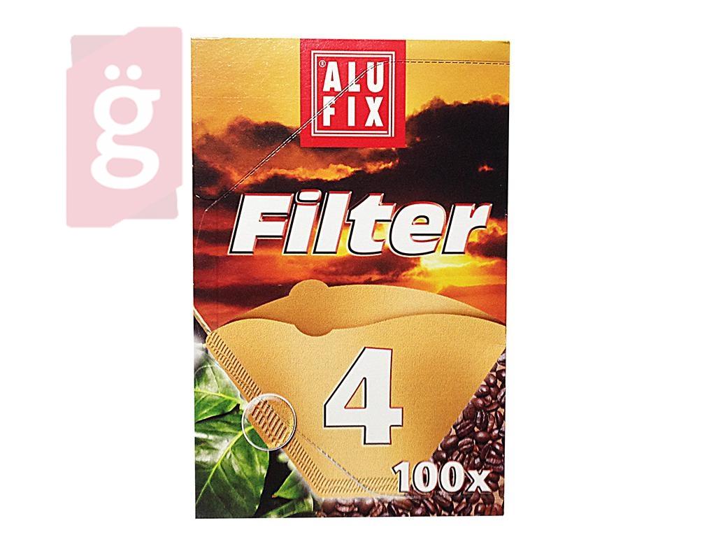 ALUFIX Papír kávéfilter 4 személyes (100db/csomag)