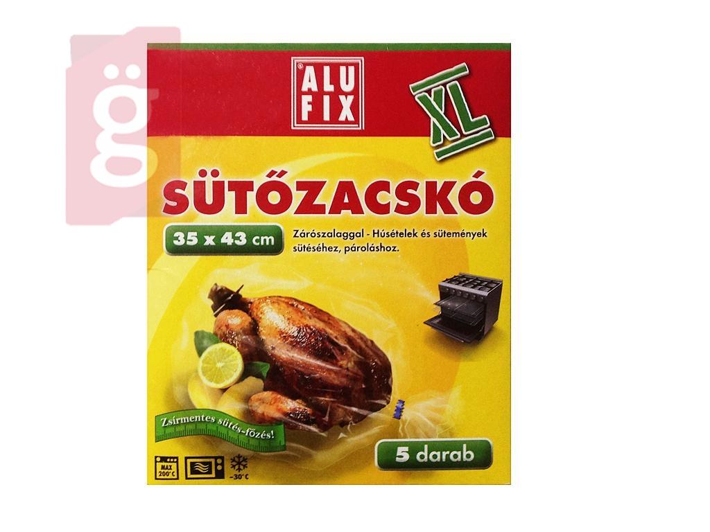 ALUFIX Sütőzacskó 5db XL 35x43cm (zárószalaggal) Mikrohollámú sütőbe-Sütőbe is használható