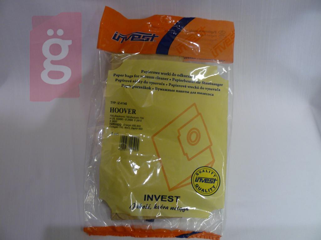Kép a(z) IZ-H140 Invest papír porzsák (5db/csomag) nevű termékről