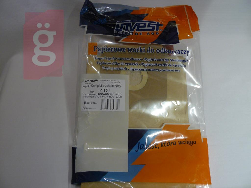 Kép a(z) IZ-D9 Invest Kompatibilis papír porzsák (5db/csomag) Helyette: IZ-Y7  nevű termékről