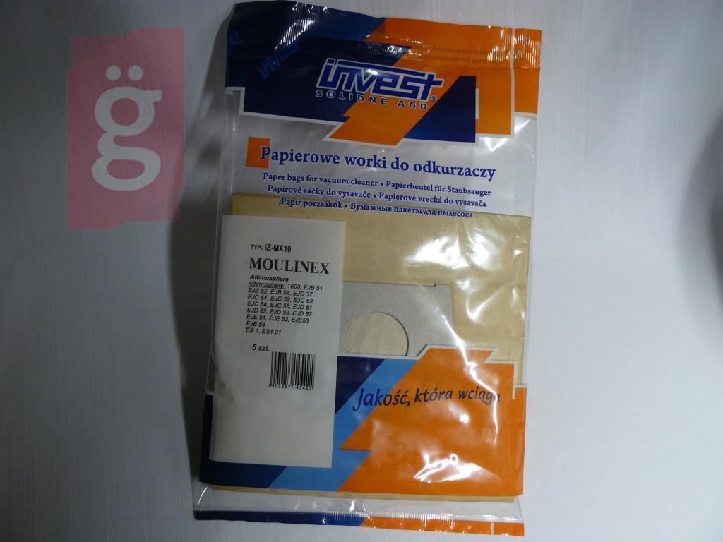 Kép a(z) IZ-MX10 Invest Moulinex papír porzsák (5db/csomag) nevű termékről