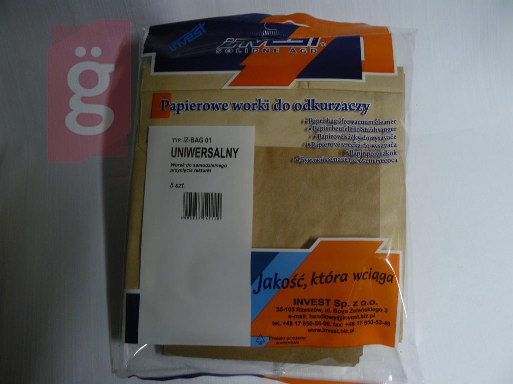 Kép a(z) IZ-BAG01 Invest Univerzális  Kompatibilis papír porzsák (5db/csomag) nevű termékről
