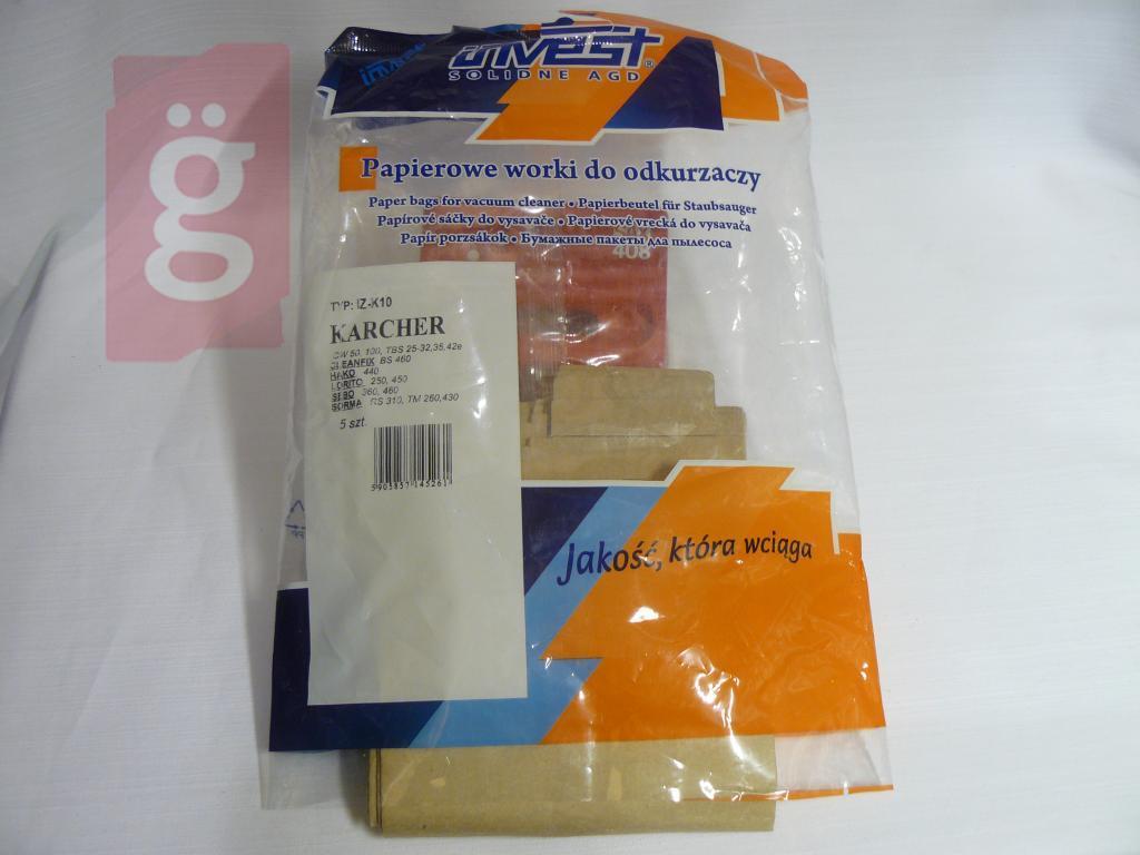 Kép a(z) IZ-K10 Invest KARCHER papír porzsák (5db/csomag) nevű termékről