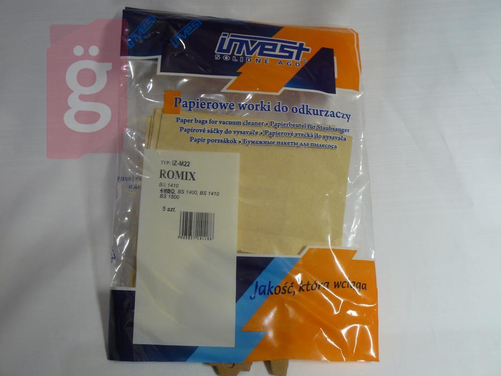 Kép a(z) IZ-M22 Invest Kompatibilis papír porzsák (5db/csomag) nevű termékről