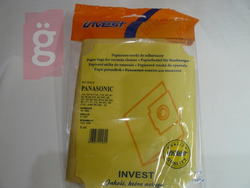 Kép a(z) IZ-PC4 Invest Kompatibilis papír porzsák (5db/csomag) nevű termékről