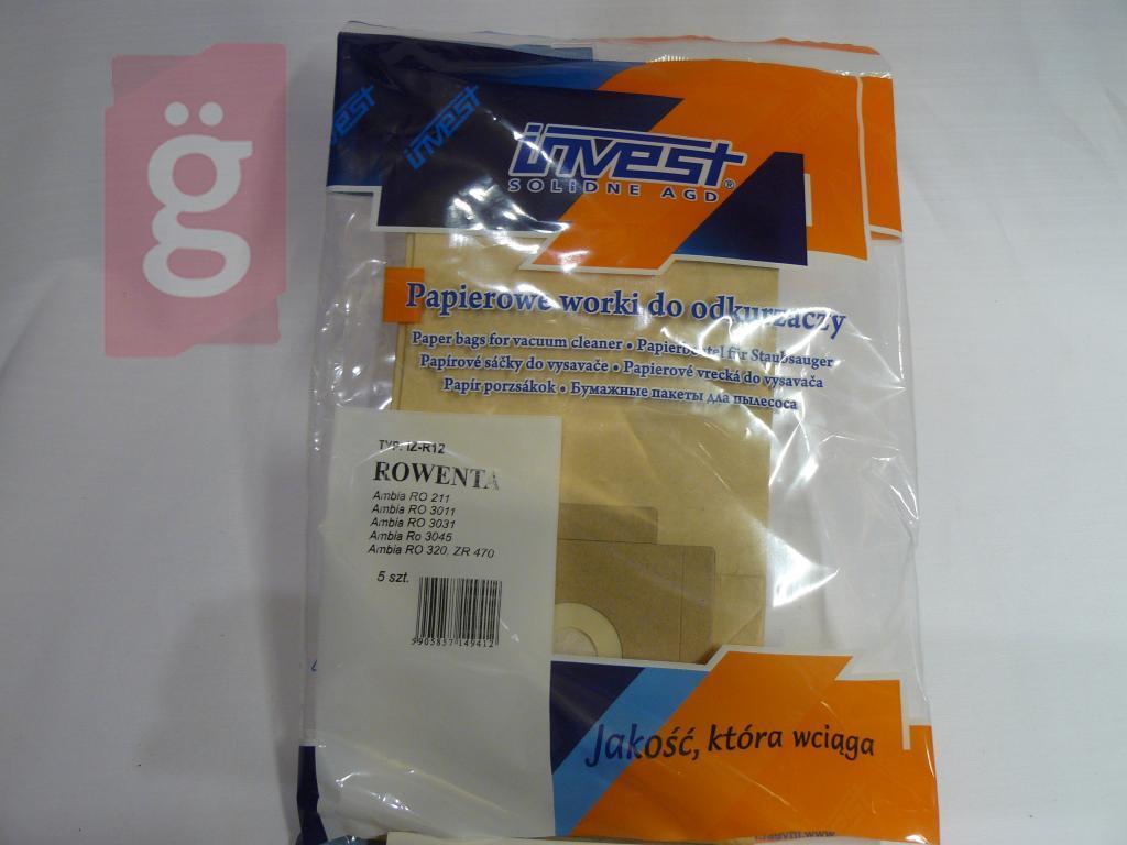 Kép a(z) IZ-R12 Invest papír porzsák (5db/csomag) nevű termékről