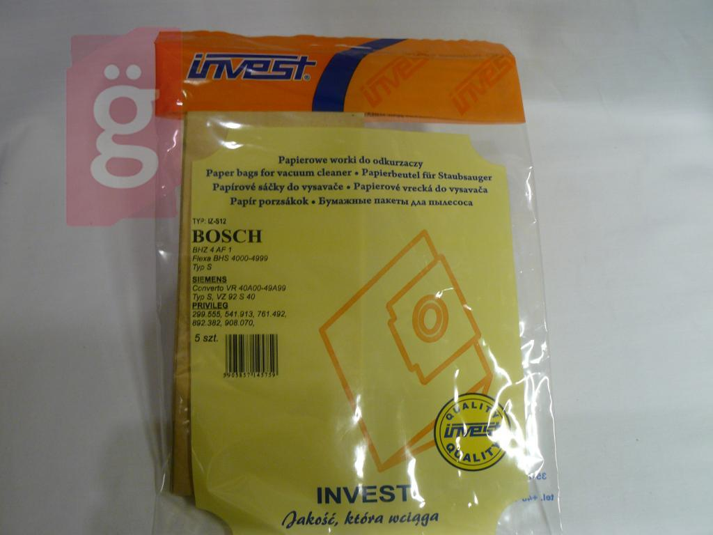 Kép a(z) IZ-S12 Invest Kompatibilis papír porzsák (5db/csomag) nevű termékről