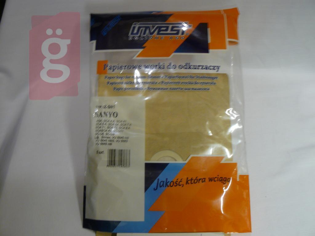 Kép a(z) IZ-SN1 Invest Kompatibilis papír porzsák (5db/csomag) nevű termékről