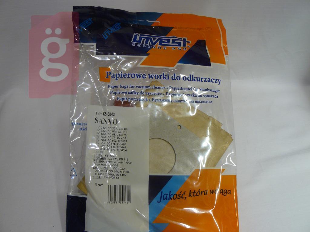 Kép a(z) IZ-SN2 Invest Kompatibilis papír porzsák (5db/csomag) nevű termékről