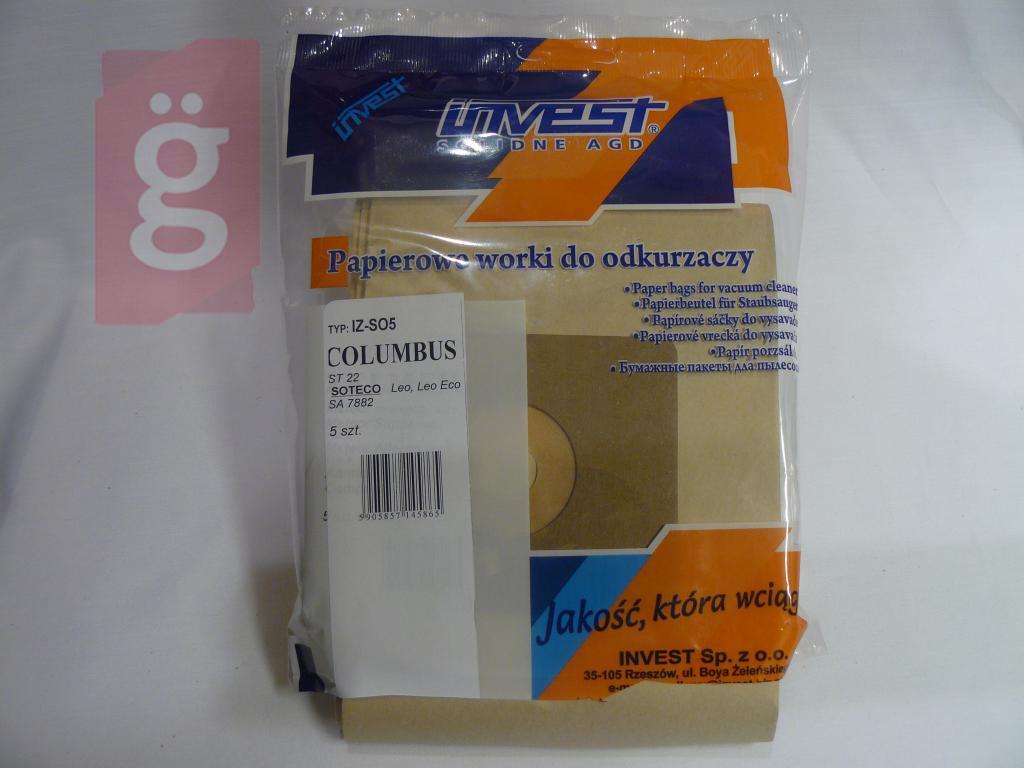 Kép a(z) IZ-SO5 Invest Kompatibilis papír porzsák (5db/csomag) nevű termékről