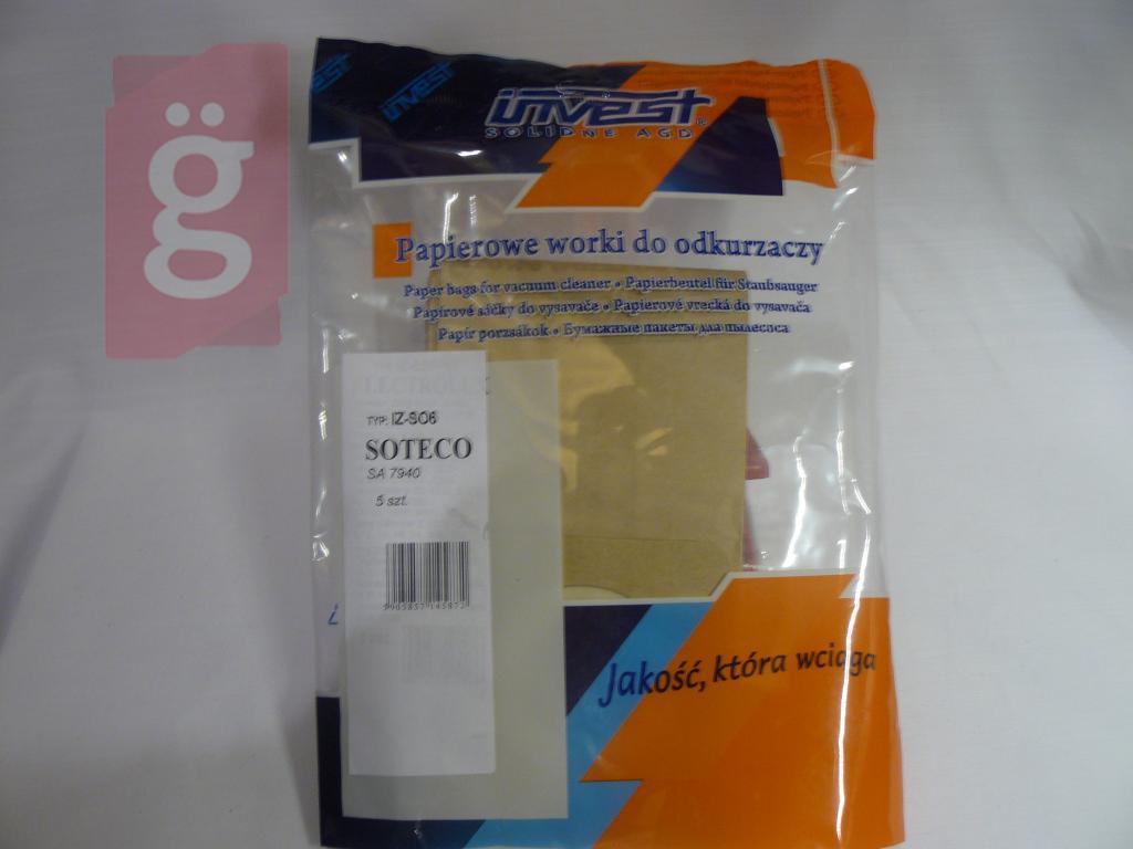 Kép a(z) IZ-SO6 Invest Kompatibilis papír porzsák (5db/csomag) nevű termékről