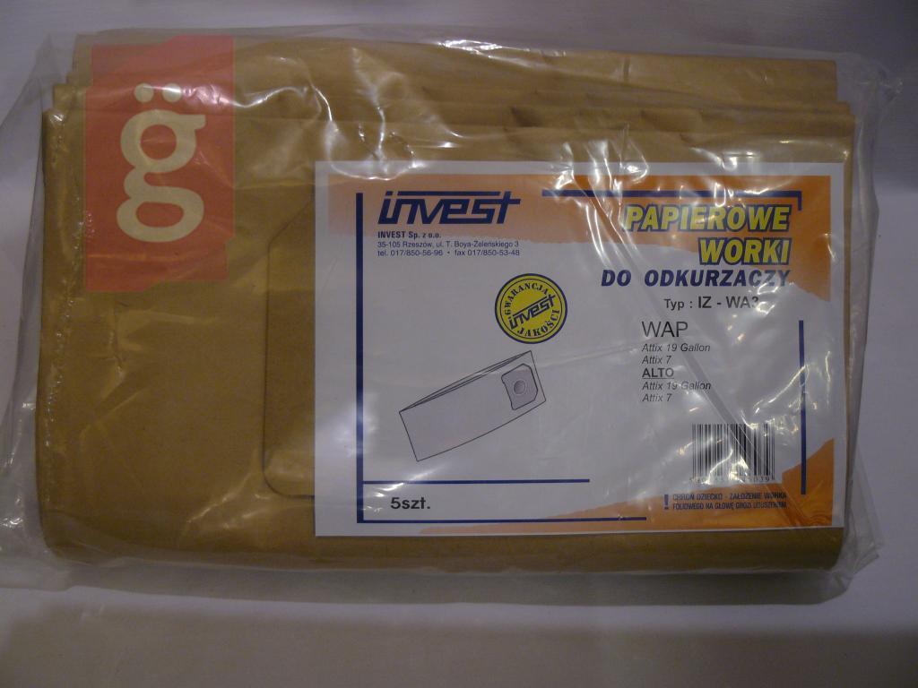 Kép a(z) IZ-WA3 Invest Kompatibilis papír porzsák (5db/csomag) nevű termékről