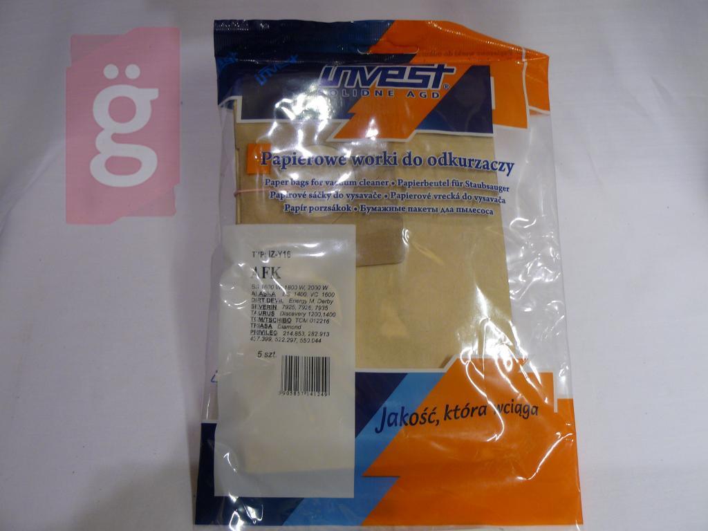 Kép a(z) IZ-Y16 Invest Alaska stb. Kompatibilis papír porzsák (5db/csomag) nevű termékről