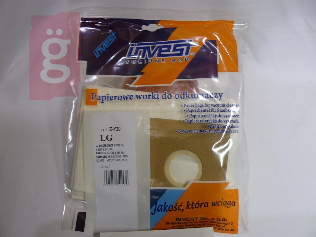Kép a(z) IZ-Y20 Invest helyette: IZ-SA7 Kompatibilis papír porzsák (5db/csomag) nevű termékről