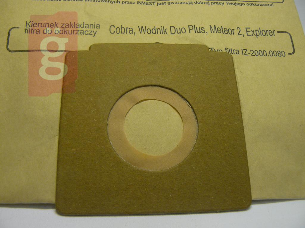 Kép a(z) IZ-2000.0290 HELYETTE: IZ-2000/321    Zelmer Invest Kompatibilis papír porzsák (5db/csomag) nevű termékről