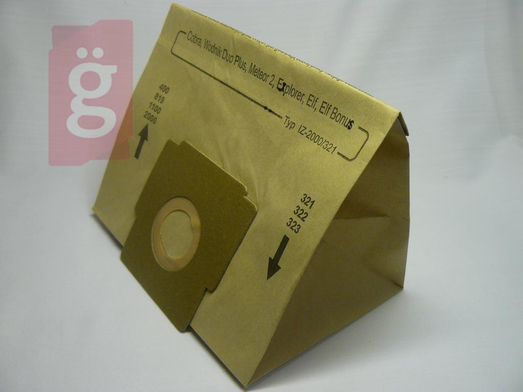 Kép a(z) IZ-321.0080 Invest Zelmer Flip Cobra stb.papír porzsák (5db+2filter/csomag) nevű termékről