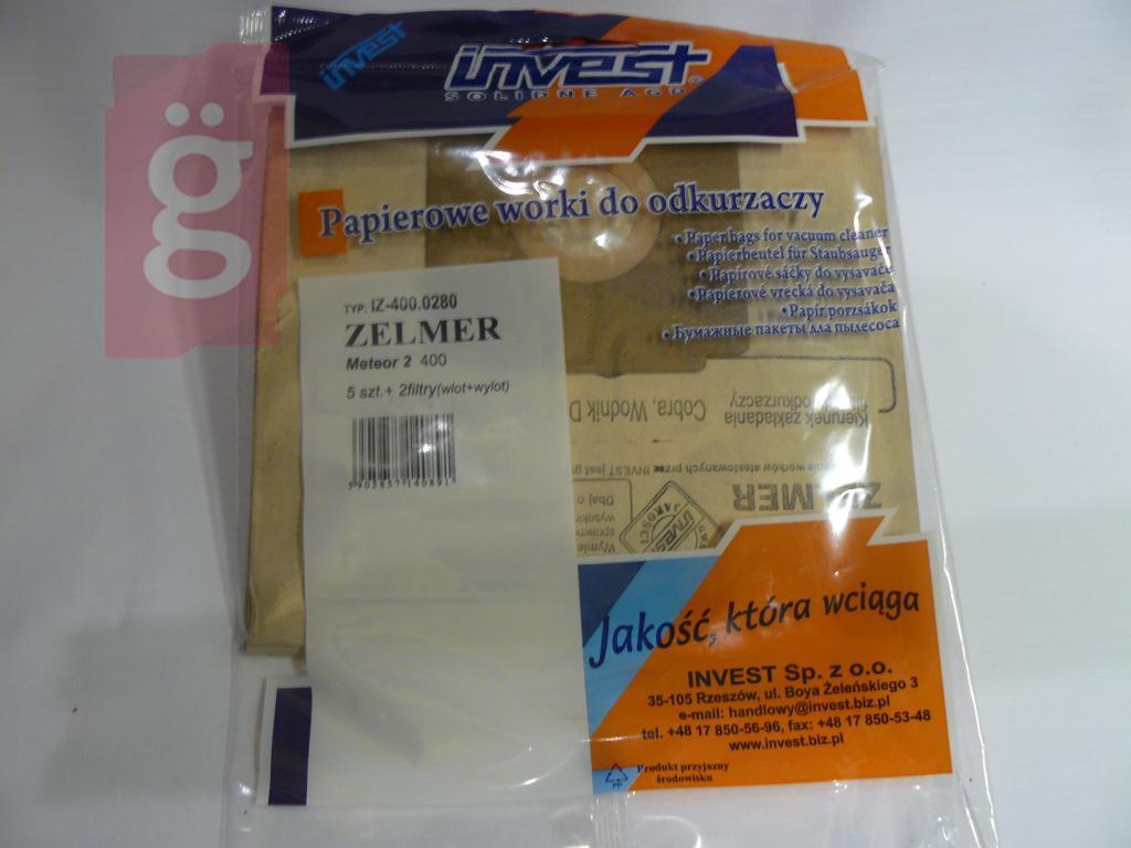 Kép a(z) IZ-400.0280 Invest Kompatibilis papír porzsák (5db/csomag) nevű termékről