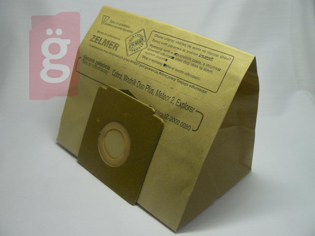 Kép a(z) IZ-400.0280 Invest papír porzsák (5db/csomag) nevű termékről