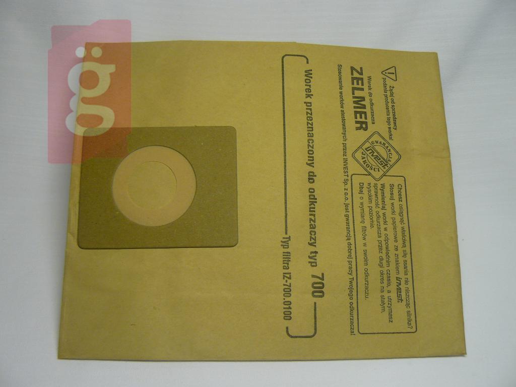 Kép a(z) IZ-700.0020 Invest BESTRON stb. papír porzsák (5db/csomag) nevű termékről