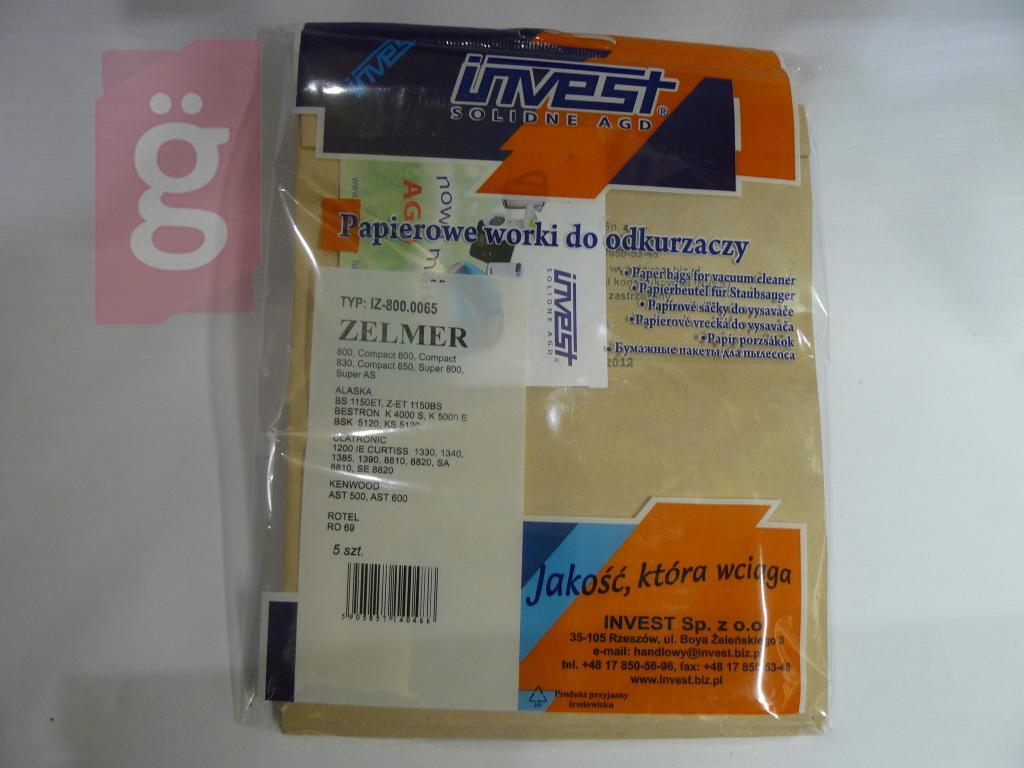 Kép a(z) IZ-800.0065 Invest Kompatibilis papír porzsák (5db/csomag) nevű termékről