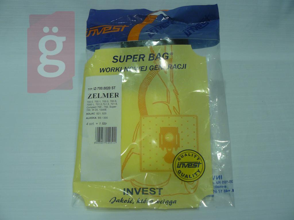 Kép a(z) IZ-700.0020S Invest mikroszálas porzsák (4db+1filter/csomag) nevű termékről
