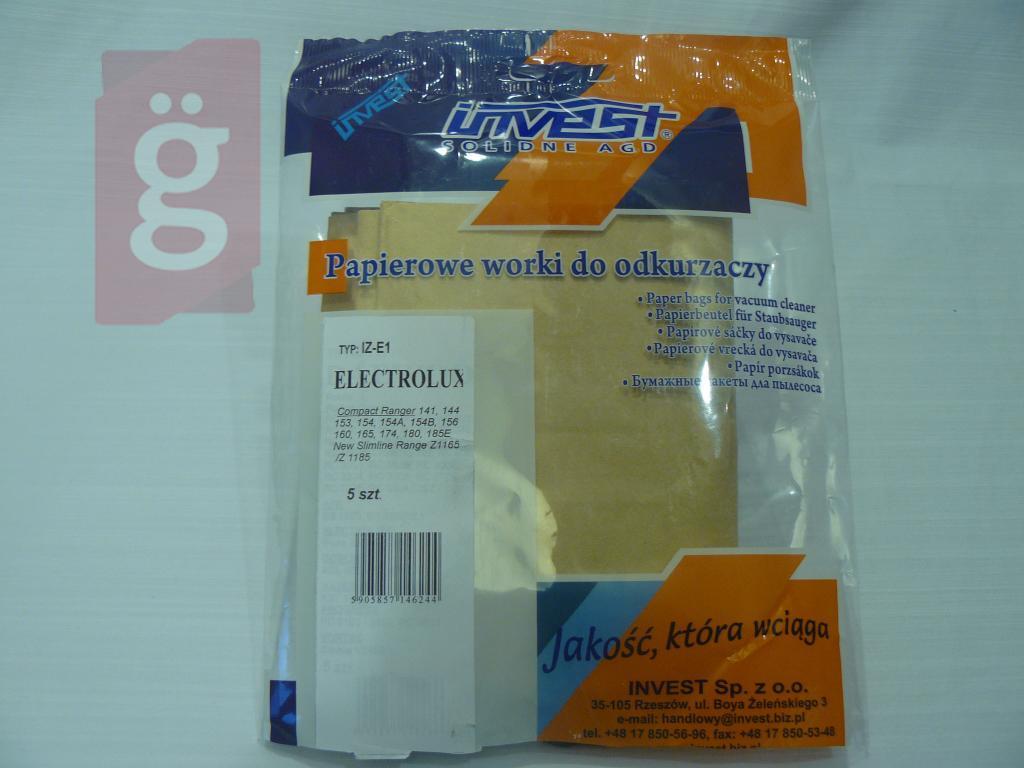 Kép a(z) IZ-E1 Invest Kompatibilis papír porzsák (5db/csomag) nevű termékről