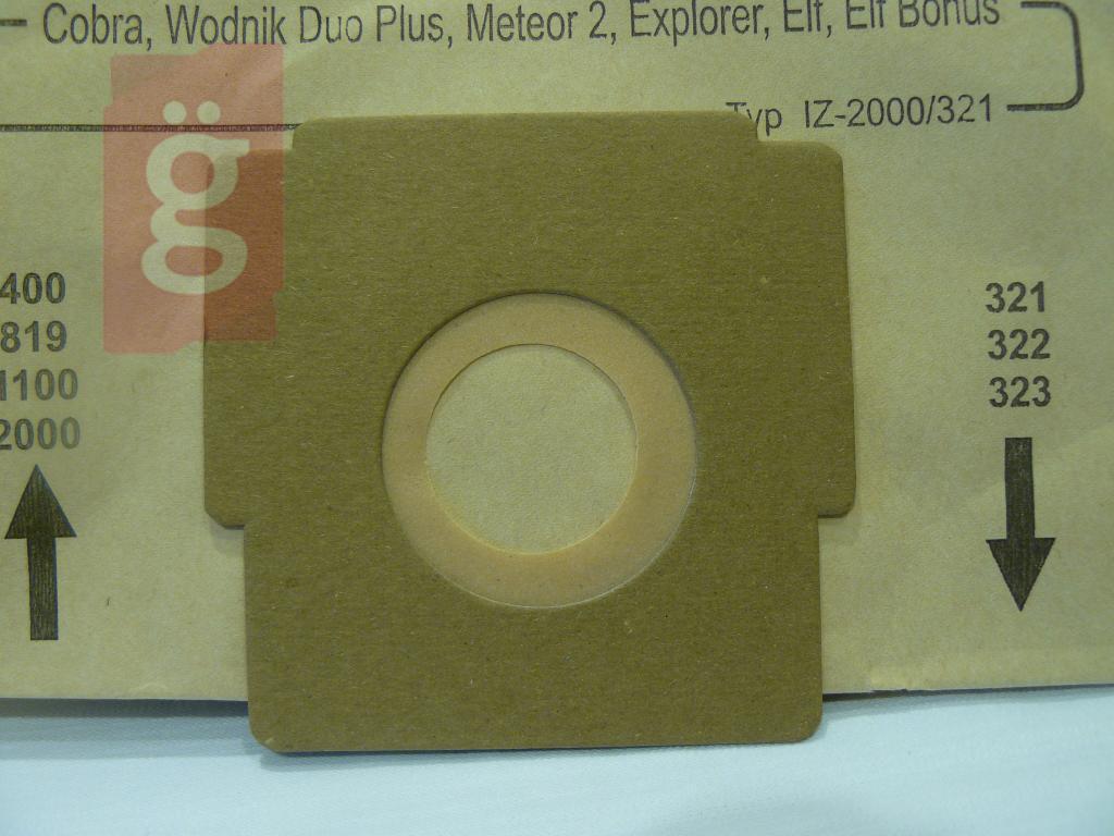 Kép a(z) IZ-323.0057 Invest Zelmer Flip Cobra stb. papír porzsák (5db/csomag) nevű termékről