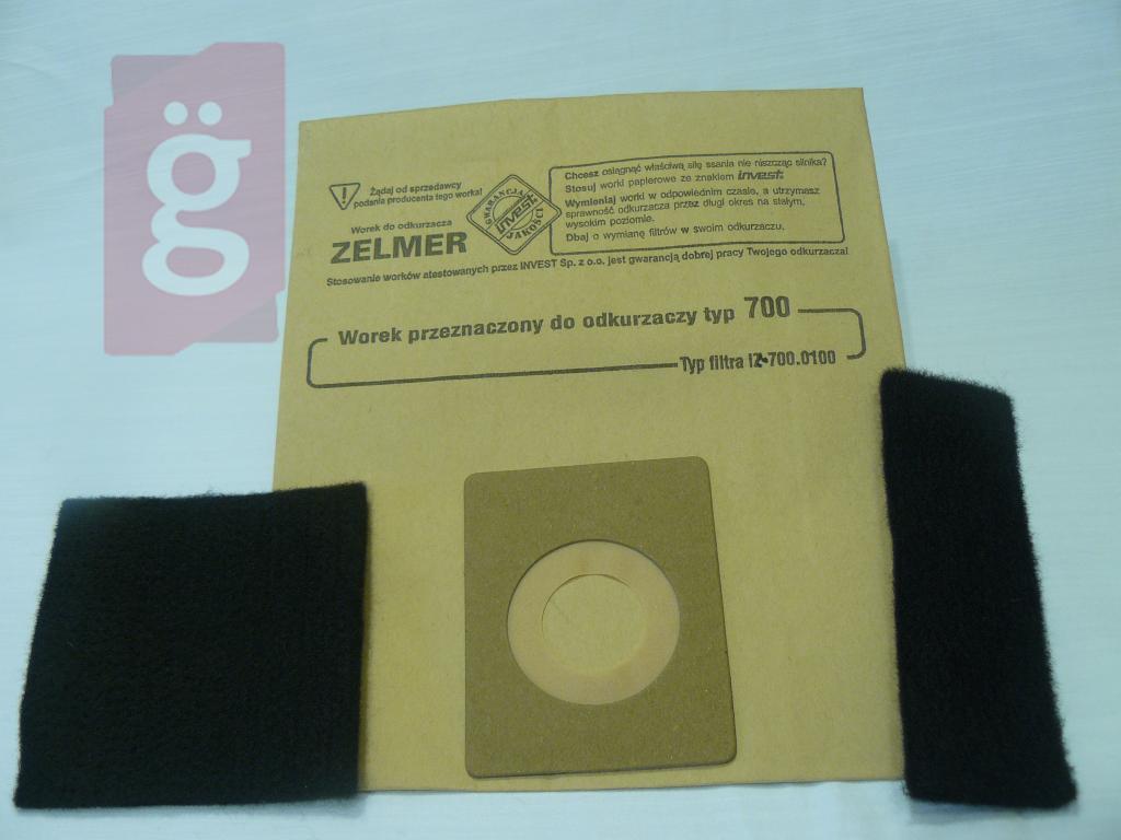 Kép a(z) IZ-700.0080  Invest papír porzsák (5+2/csomag) nevű termékről