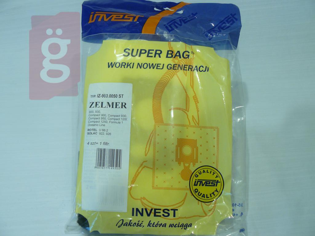 Kép a(z) IZ-900.0050S Invest Kompatibilis mikroszálas porzsák (4db+2filter/csomag) nevű termékről