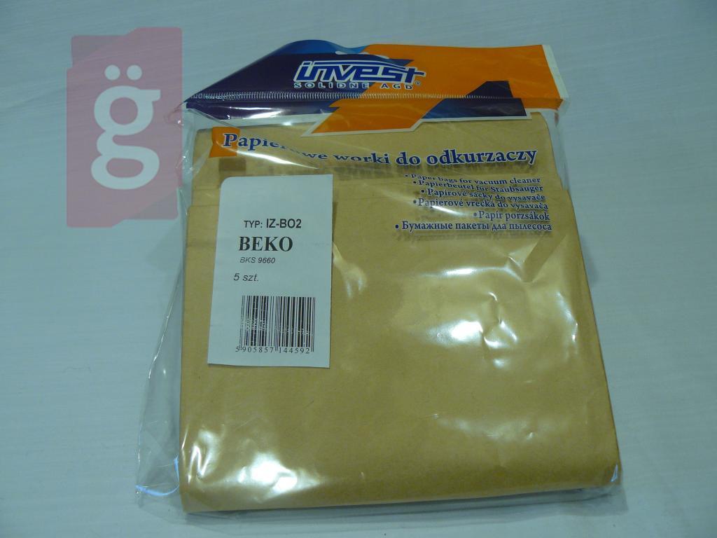 Kép a(z) IZ-BO2 Invest Kompatibilis papír porzsák (5db/csomag) nevű termékről