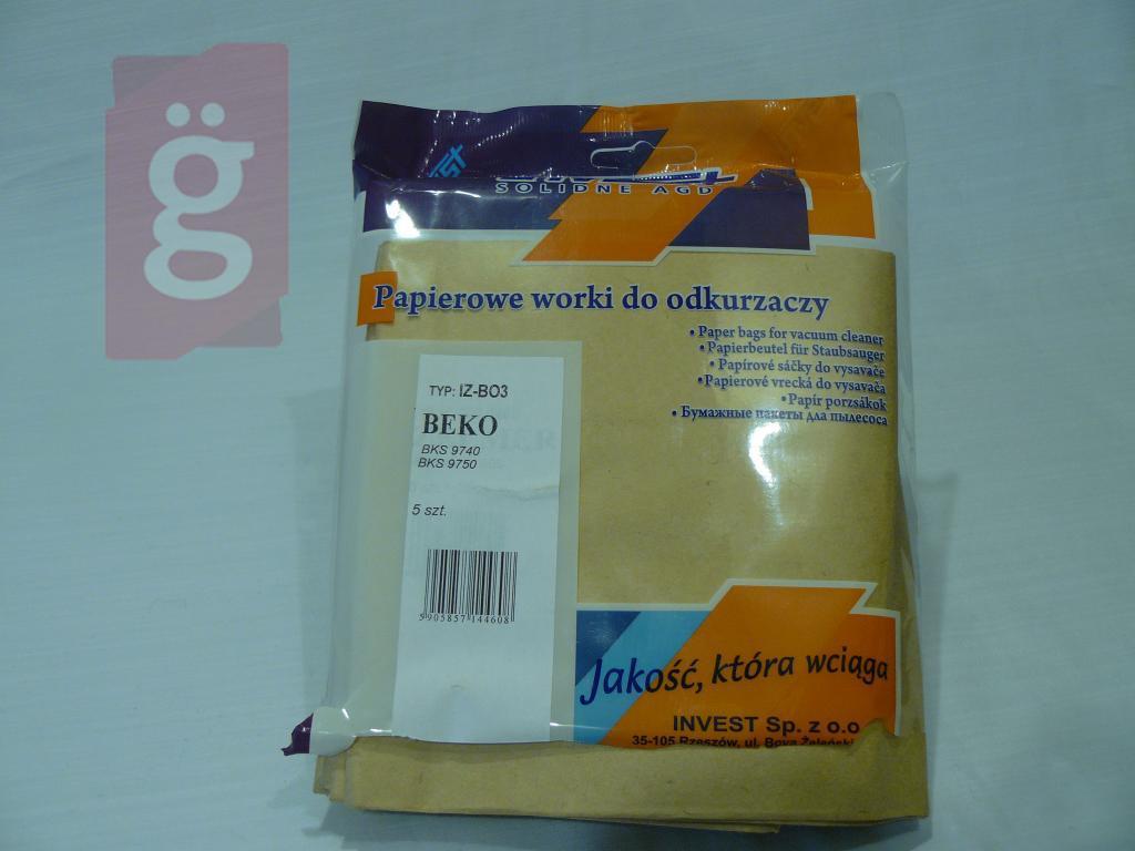 Kép a(z) IZ-BO3 Invest papír porzsák (5db/csomag) nevű termékről