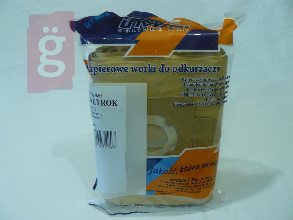 Kép a(z) IZ-WK1 Invest papír porzsák (5db/csomag) nevű termékről