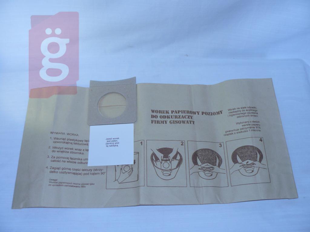 Kép a(z) IZ-GS1 Gisowatt stb. Kompatibilis papír porzsák (5db/csomag) nevű termékről