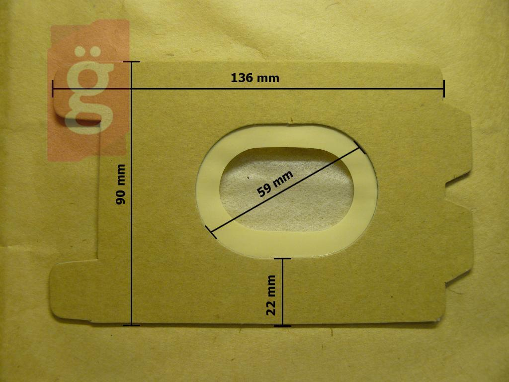 Kép a(z) IZ-E21 Invest Kompatibilis papír porzsák (5db/csomag) nevű termékről