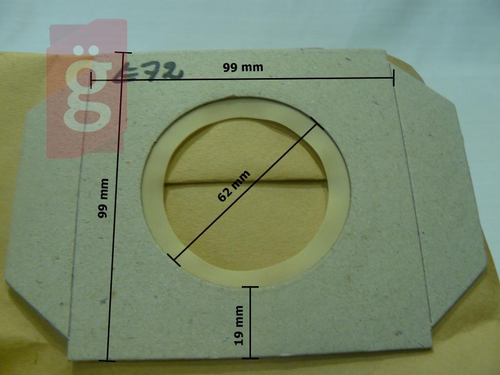 Kép a(z) IZ-E72 Invest Thomas takarítógép Vario Elektrik stb. Kompatibilis papír porzsák (5db/csomag) nevű termékről