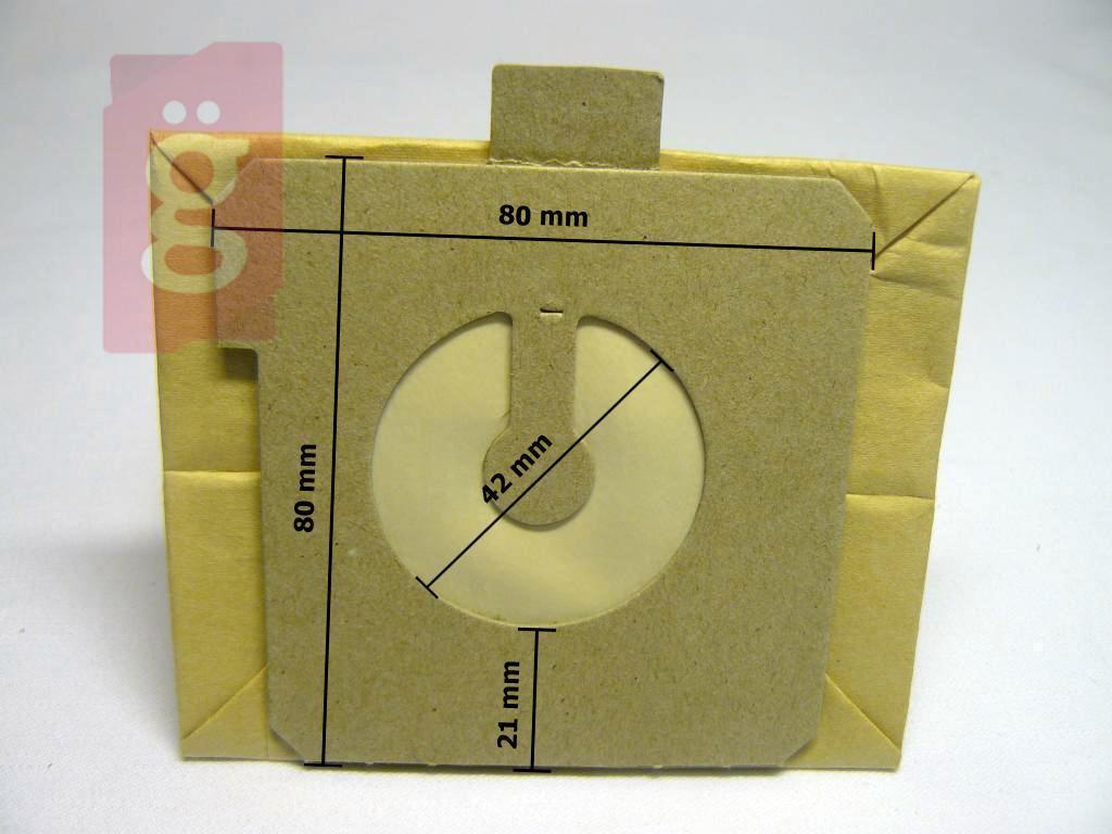 Kép a(z) IZ-E17 Invest AEG GR17 / Electrolux E17 papír porzsák (5db/csomag) nevű termékről