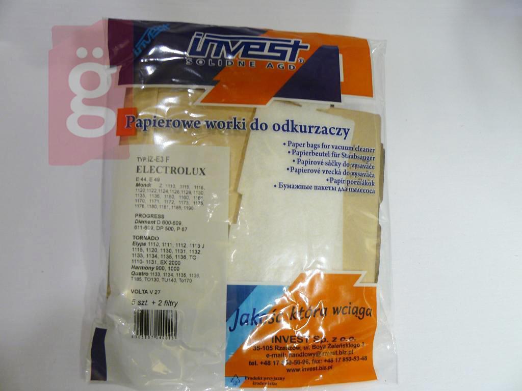Kép a(z) IZ-E3.2F Invest Electrolux Mondo papír porzsák (5db+2filter/csomag) nevű termékről