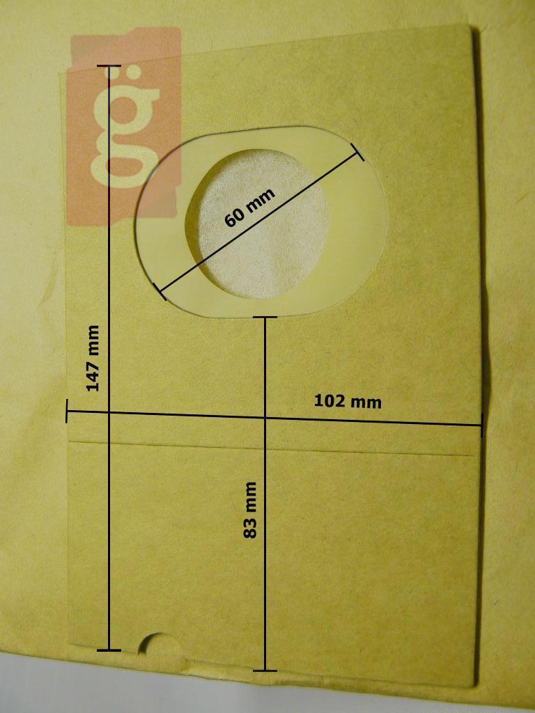 Kép a(z) IZ-E34 Invest Kompatibilis papír porzsák (5db/csomag) nevű termékről