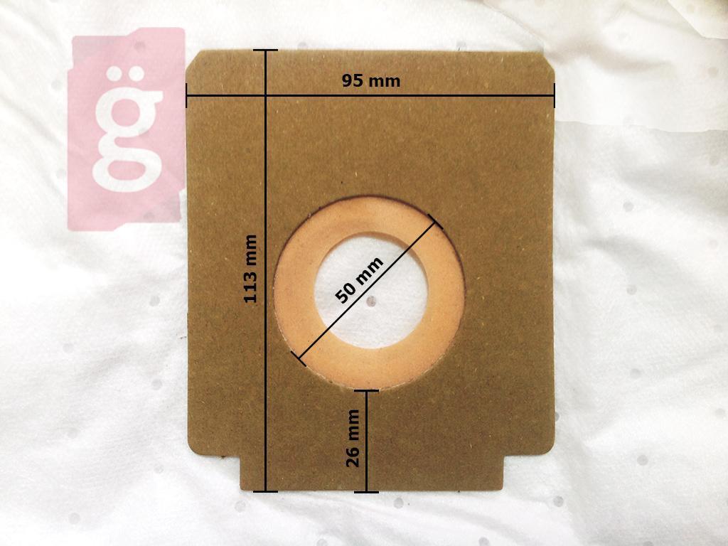 Kép a(z) IZ-WB1S Invest Wirbel Micros mikroszálas porzsák (5db/csomag) nevű termékről