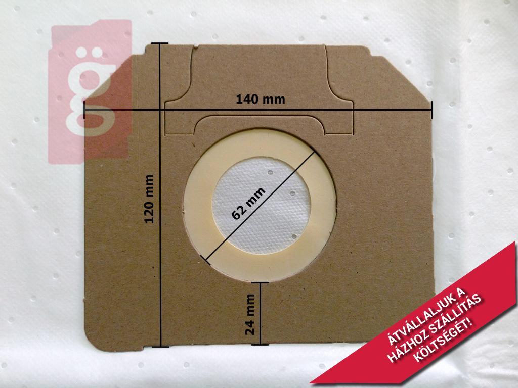 Kép a(z) IZ-MNS05S Invest IPARI Nilfisk Alto Attix 5 Kompatibilis mikroszálas porzsák (5db/csomag) nevű termékről
