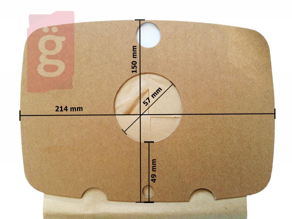 Kép a(z) IZ-ETA400 ETA papír porzsák (5db/csomag) nevű termékről