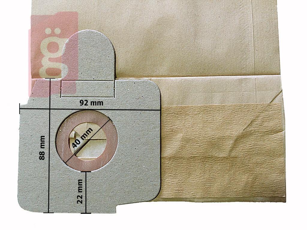 Kép a(z) IZ-K20 Karcher CV 38/1 Kompatibilis papír porzsák (5db/csomag) nevű termékről
