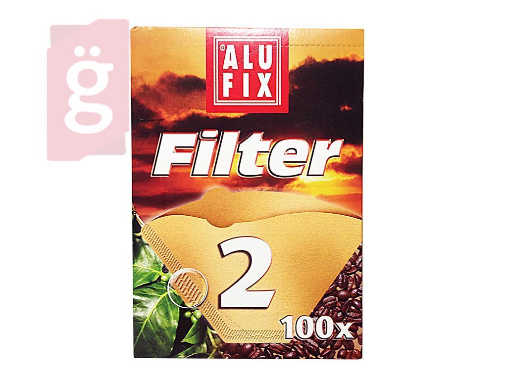 Kép a(z) ALUFIX Papír kávéfilter 2 személyes (100db/csomag) nevű termékről
