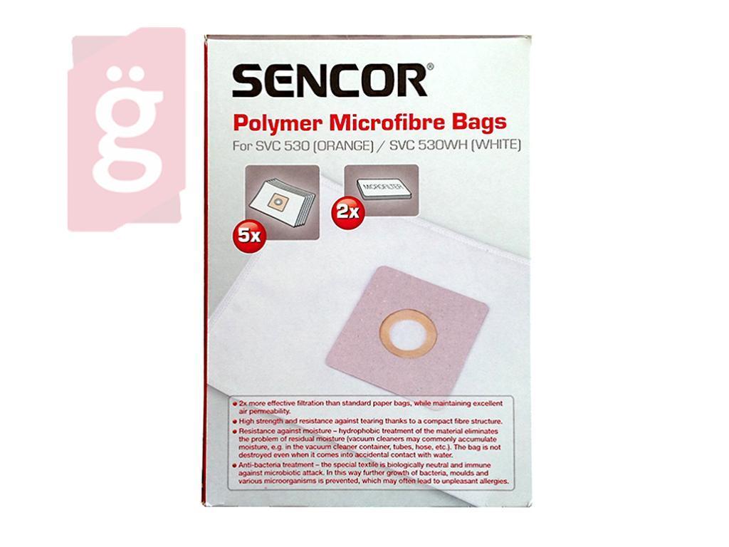 Kép a(z) IZ-SVC53S Sencor SVC 530 ORANGE / SVC 530WH WHITE mikroszálas porzsák (5db+2filter/csomag) Gyári nevű termékről