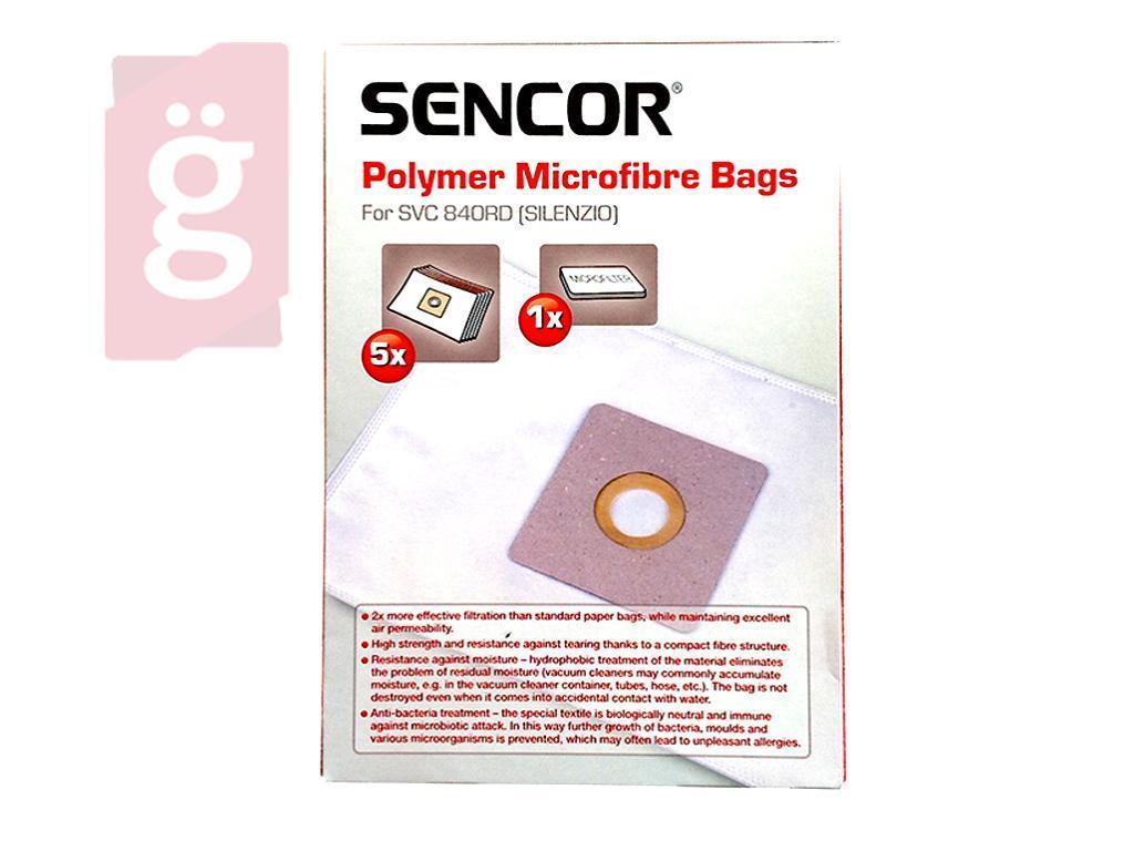 Kép a(z) IZ-SVC84S.1F Sencor SVC 840RD SILENZIO mikroszálas porzsák (5db+1filter/csomag) Gyári nevű termékről