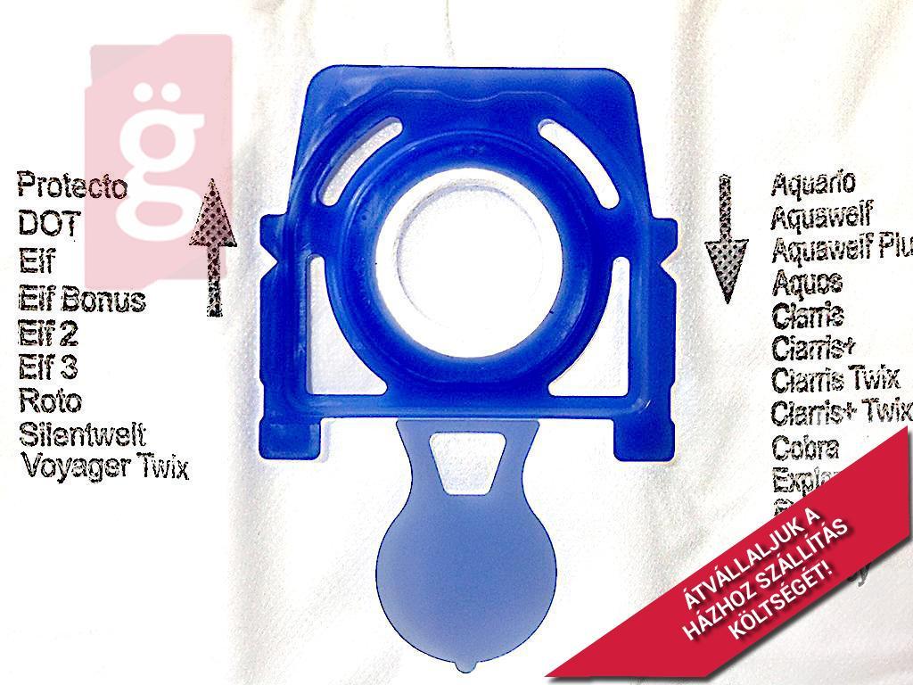 Kép a(z) IZ-49.4000 Zelmer Safe Bag Aquawelt 919 / Aquario 819 / 829 / 719 Gyári mikroszálas porzsák (4db+1filter/csomag) ZVCA100B / 12006466  nevű termékről