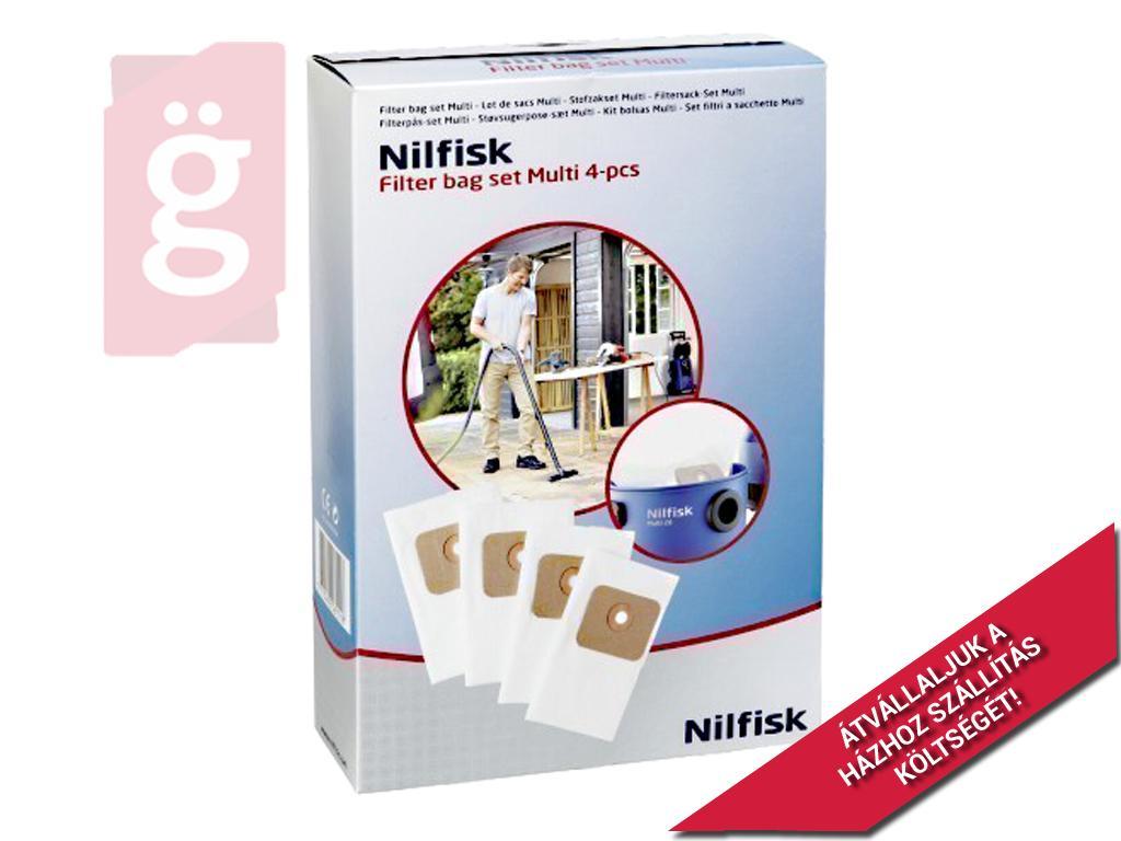 Kép a(z) IZ-NM20GYS Nilfisk Multi 20 Gyári mikroszálas porzsák (4db/csomag) 107402336 nevű termékről