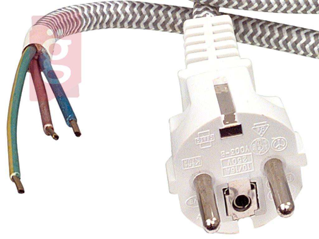 Kép a(z) Vasaló Hálózati Csatlakozókábel / Vasalózsinór 3 méter (3x0.75mm²) nevű termékről